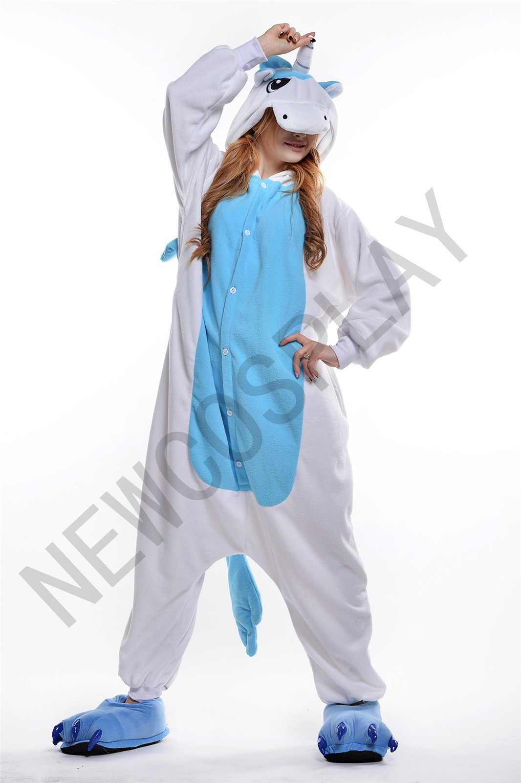 Blue Unicorn onesie by NEWCOSPLAY ONESIE