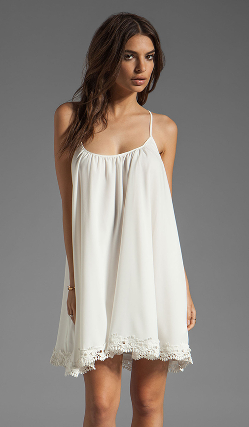 Lovers   friends sunshine dress in white with lace from revolveclothing.com