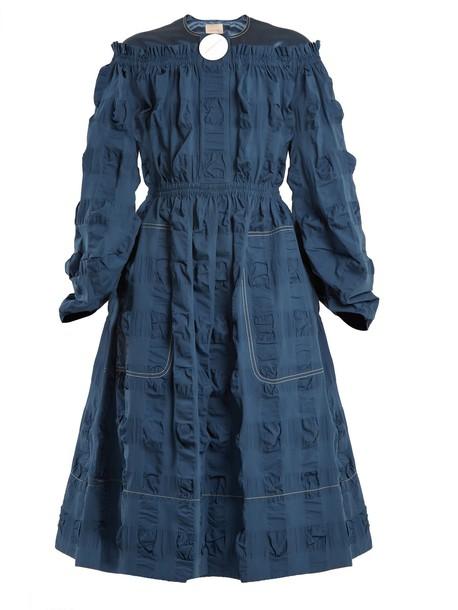Roksanda dress cotton satin blue