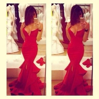 red dress promdress sparkly dress crystal cute dress red fashion sparkle