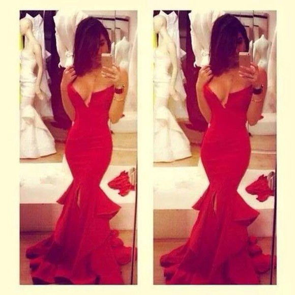 red red dress fashion cute dress promdress sparkly dress crystal,pretty,sparkles,