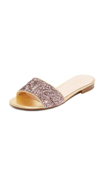 6f1a5ba3fcf5 Kate Spade New York Kate Spade New York Madeline Glitter Slides - Rose Gold  Multi