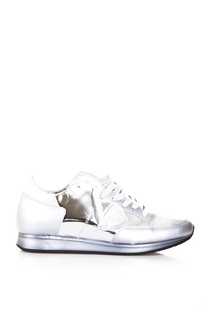 Philippe Model sneakers leather silver shoes