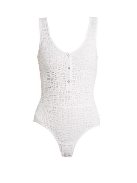 NEGATIVE UNDERWEAR bodysuit mesh bodysuit mesh white underwear