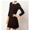 Lace collar black dress victoria beckham style fashion blogger | awesome world - online store