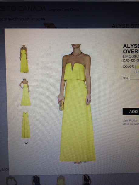 dress yellow dress a line dress floor length dress