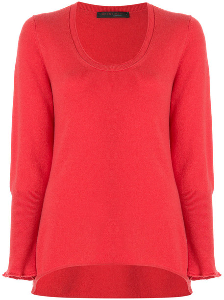 Incentive Cashmere jumper women red sweater