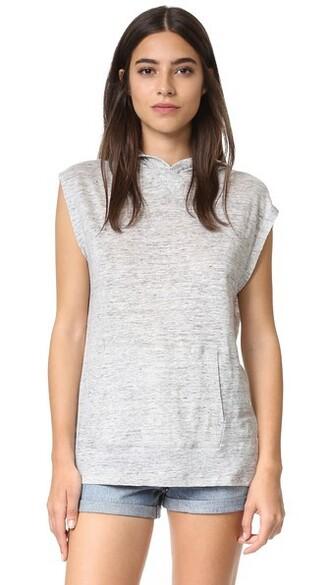 sleeveless grey heather grey top