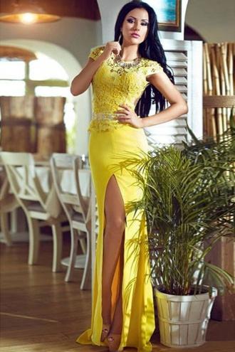 dress wots-hot-right-now yellow dress pretty cute dress formal dress cocktail dress