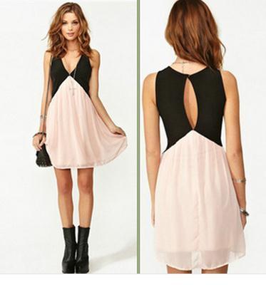 Fashion backless chiffonn dress · tourtown · online store powered by storenvy