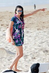 dress,summer,summer dress,beach,floral,floral dress,mini dress,nina dobrev