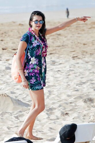 dress summer summer dress beach floral floral dress mini dress nina dobrev