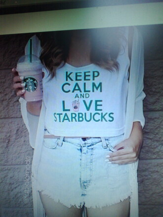 keep calm love starbucks starbucks coffee tanktop