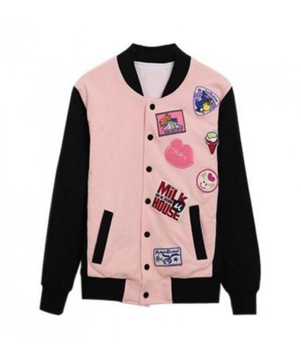Jacket It Girl Shop Kawaii Pastel Grunge Baseball Tee