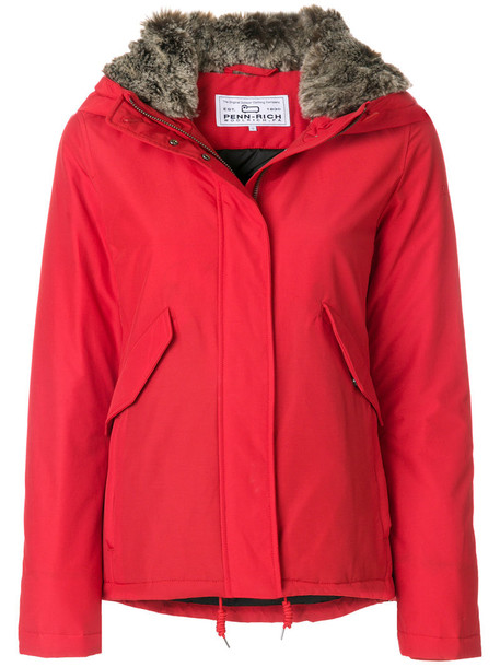 jacket women cotton red
