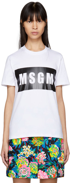 MSGM t-shirt shirt t-shirt white top