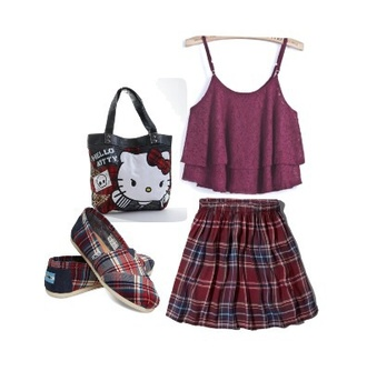 lace top tank top fashion clothes back to school burgundy