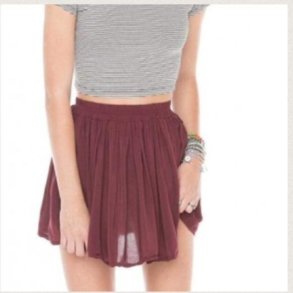 Brandy Melville - Burgundy Mini Skirt from Melissa's closet on Poshmark