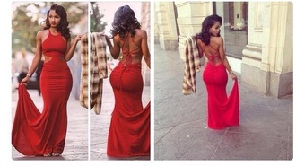 dress red dress red formal dress long dress backless dress backless prom dress
