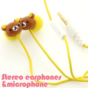 Gourmandise San-X Rilakkuma Stereo Earphones With: Amazon.co.uk: Electronics