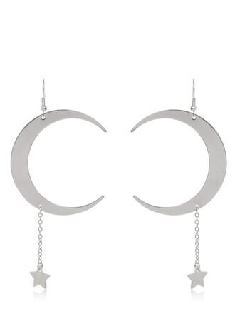 moon earrings pendant silver jewels