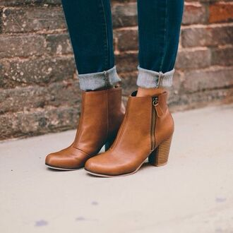 shoes pinterest boots booties brown leather boots brown fall outfits fashion style ankle boots brown booties mid heel boots