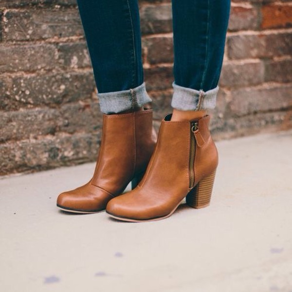 Shoes Pinterest Boots Booties Brown Leather Boots