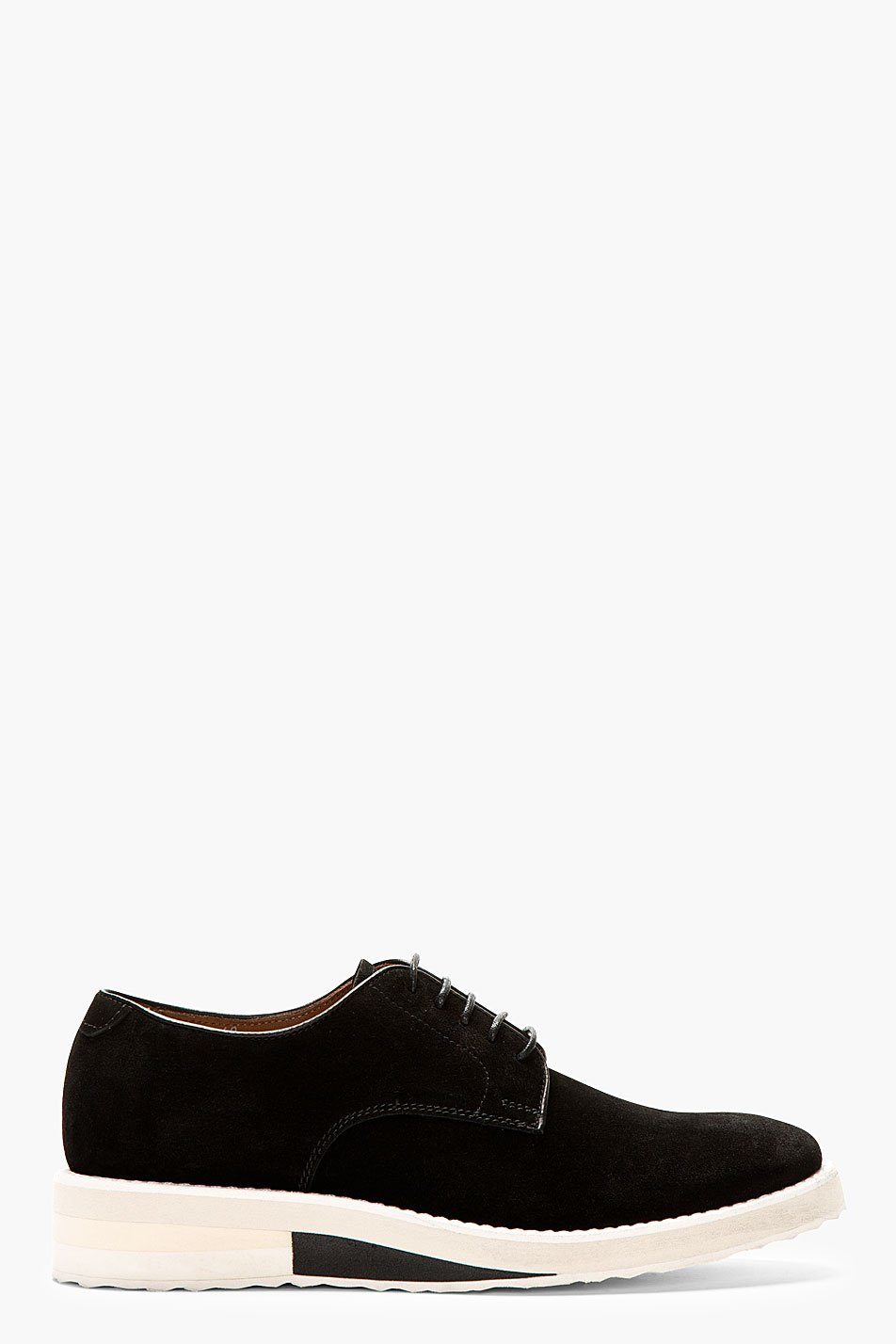 Acne studios black suede derbys