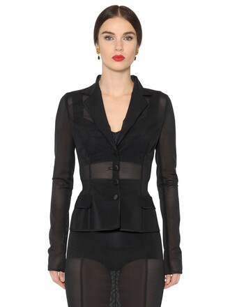 jacket sheer mesh black