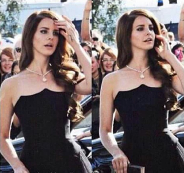 lana del rey black dress