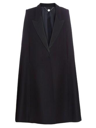 cape oversized black top