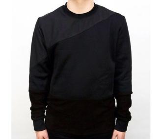sweater london menswear menswear mens t-shirt mens sweater black leather style fashion designers winter sweater