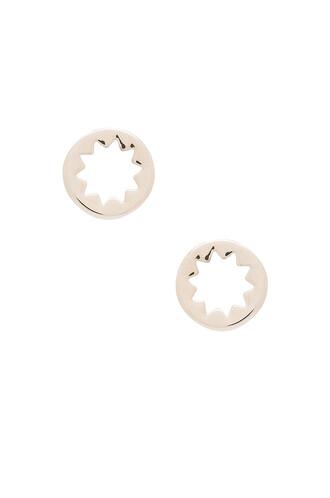 earrings stud earrings metallic silver