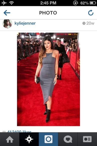 dress grey grey dress long dress kardashians kardashian kylie jenner dress kylie jenner grey dress kylie jenner