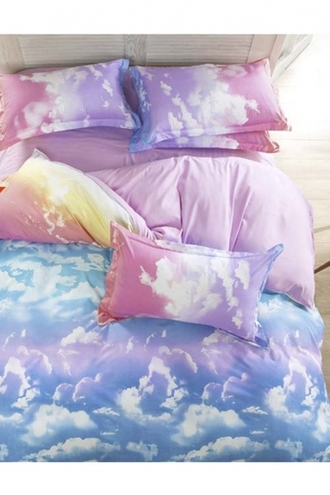home accessory girl girly girly wishlist bedding pillow clouds purple blue