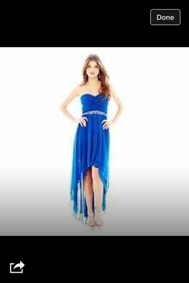 dress blue dress high-low dresses royal blue dress