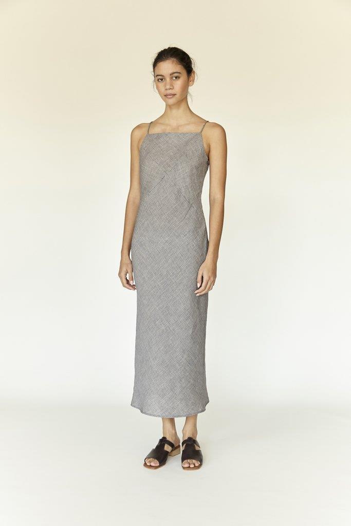 Bias Dress - Micro Gingham