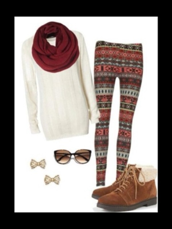 scarf burgundy sweater sunglasses shoes