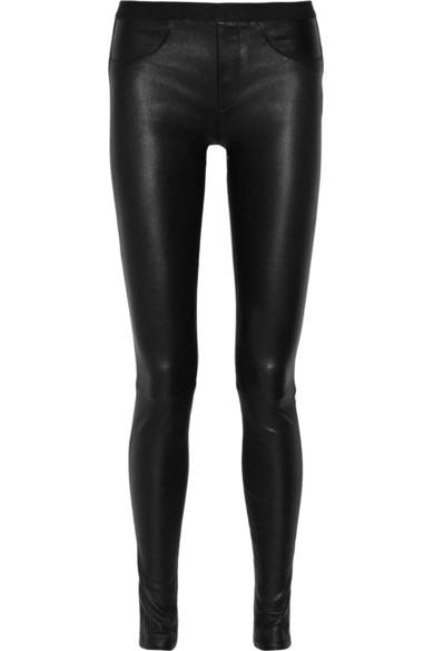Helmut Lang|Stretch-leather leggings|NET-A-PORTER.COM