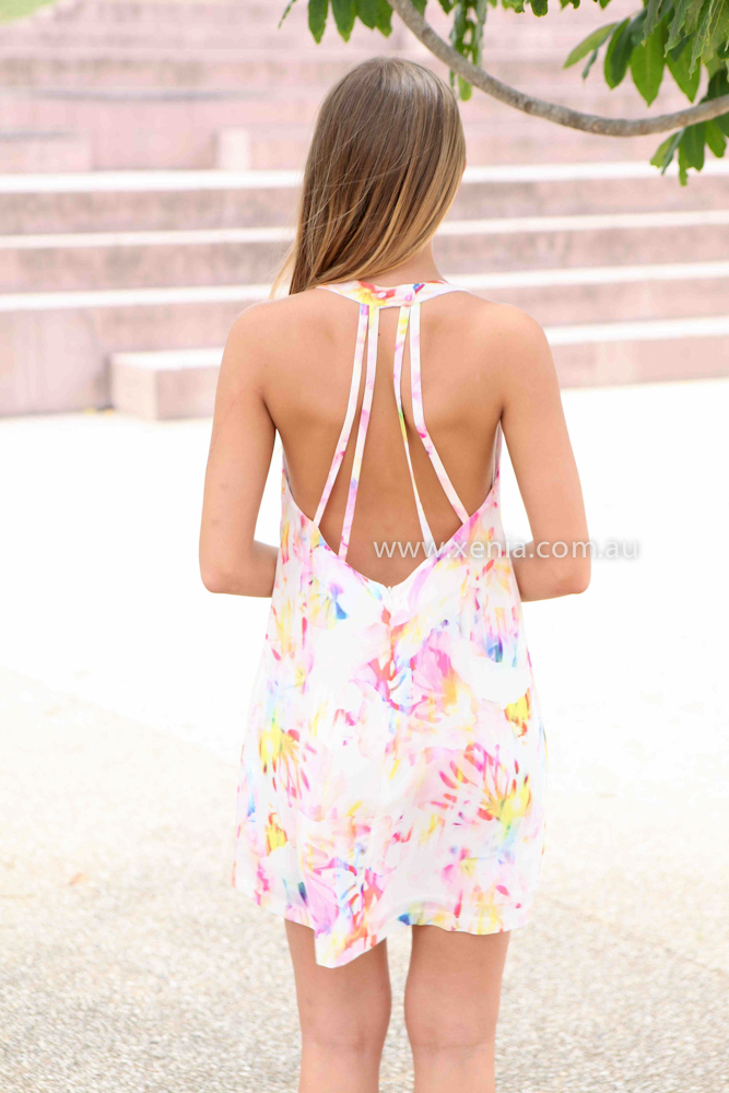 YOU SENT ME DRESS , DRESSES, TOPS, BOTTOMS, JACKETS & JUMPERS, ACCESSORIES, 50% OFF SALE, PRE ORDER, NEW ARRIVALS, PLAYSUIT, COLOUR, GIFT VOUCHER,,Pink,White,Print,CUT OUT,SLEEVELESS,MINI Australia, Queensland, Brisbane