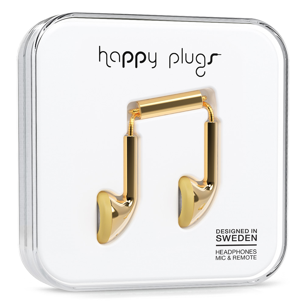 Happy plugs gold