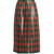 Striped pleated lamé skirt