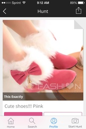 shoes,pink,boots,bow,fluffy,high heel ankle boots,kawaii,fur