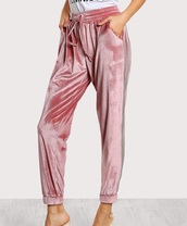 pants,velvet,girly,pink,crushed velvet,joggers,sweatpants