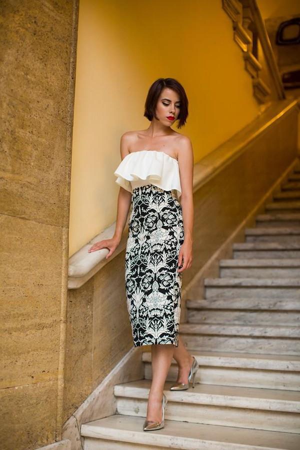 1b25d3017f5f25 dress printed dress black white black and white black and white dress.