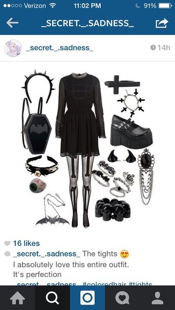 dress emo dark cool grunge