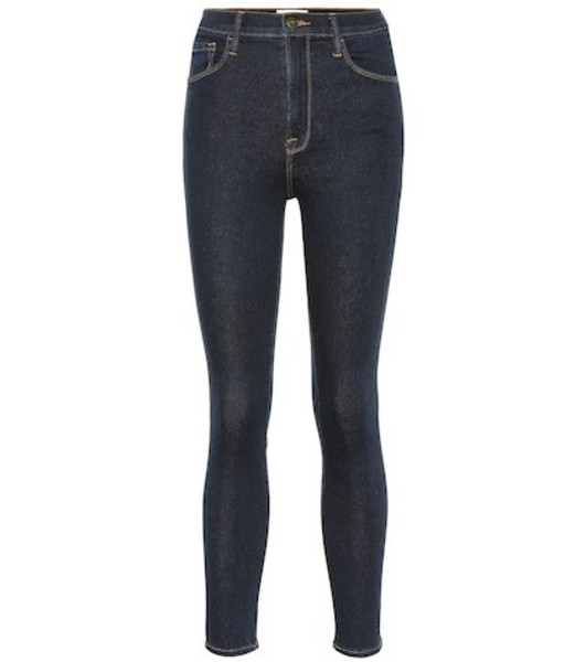 Frame Ali high-rise cigarette jeans in blue