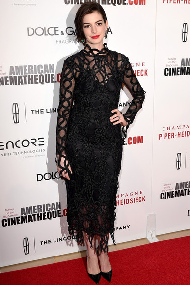 dress lace dress anne hathaway