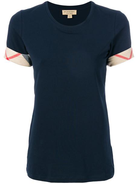 Burberry t-shirt shirt t-shirt women spandex cotton blue top