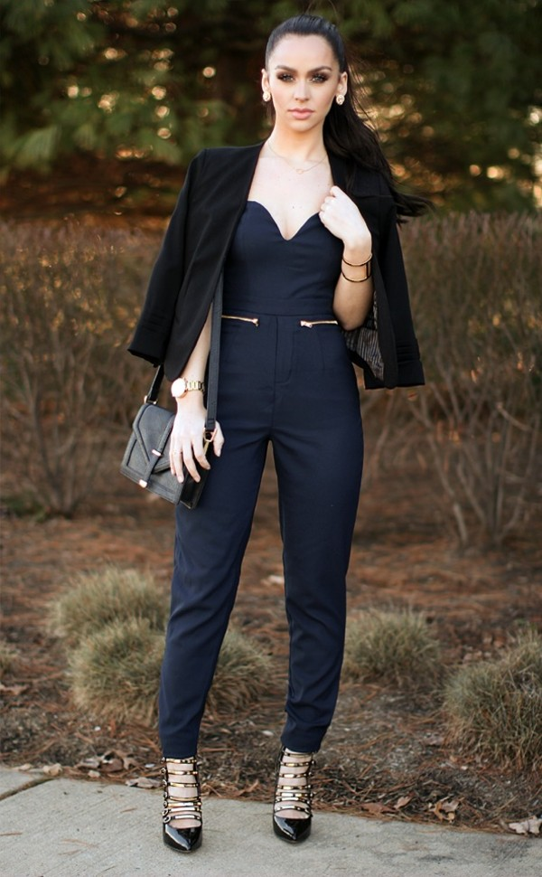Pants: jumpsuit, black, carli bybel, classy - Wheretoget